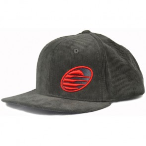 Cleanline Embroidered Rock Hat - Charcoal/Red