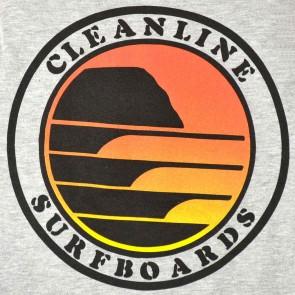 Cleanline Sunset Circle Hoodie - Heather Grey