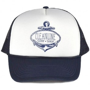 Cleanline Anchor Mesh Hat - Navy/White