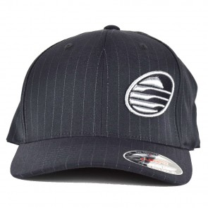 Cleanline Embroidered Rock Hat - Grey/Pinstripe