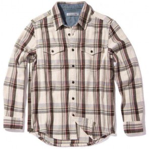 Outerknown Blanket Long Sleeve Shirt - Dusty Red Cusco Plaid