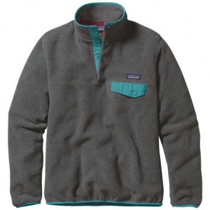 Patagonia Women's Lightweight Synchilla Snap-T Fleece Pullover - Nickel/Epic Blue