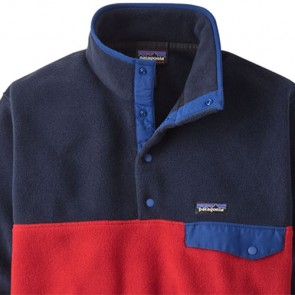 Patagonia Lightweight Synchilla Snap-T Fleece Pullover - Classic Red