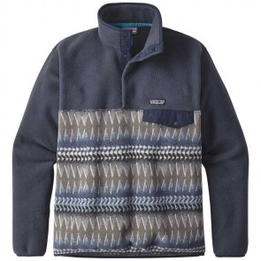 Patagonia Lightweight Synchilla Snap-T Fleece Pullover - Laughing Waters/Smolder Blu