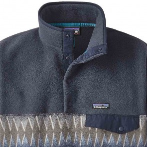 Patagonia Lightweight Synchilla Snap-T Fleece Pullover - Laughing Waters/Smolder Blue