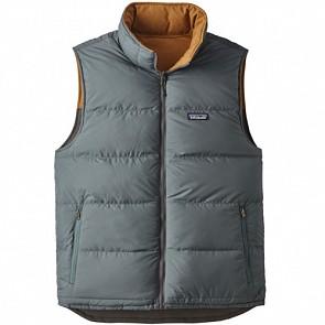 Patagonia Reversible Bivy Down Vest -  Forge Grey/Brown Bear