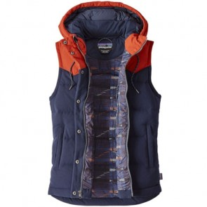 Patagonia Women's Bivy Down Hooded Vest - Navy Blue