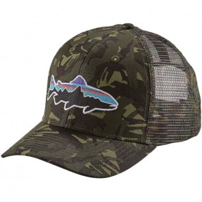 Patagonia Fitz Roy Trout Trucker Hat - Big Camo/Fatigue Green
