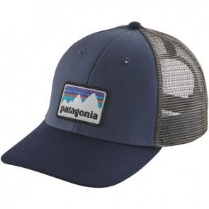 Patagonia Shop Sticker Patch LoPro Trucker Hat - Dolomite Blue