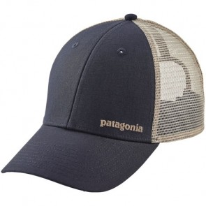 Patagonia Small Text Logo LoPro Trucker Hat - Smolder Blue