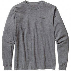 Patagonia P-6 Logo Long Sleeve T-Shirt - Gravel Heather