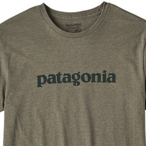 Patagonia Text Logo T-Shirt - Industrial Green