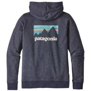 Patagonia Women's Shop Sticker Zip Hoodie - Navy Blue