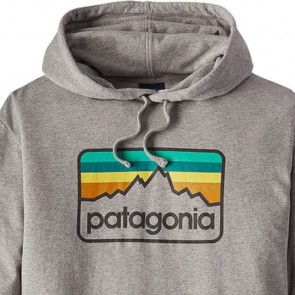 Patagonia Logo Badge Lightweight Hoodie - Feather Grey