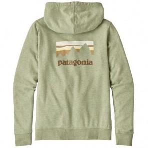 Patagonia Women's Shop Sticker Zip Hoodie - Desert Sage