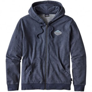Patagonia Fitz Roy Crest Lightweight Zip Hoodie - Navy Blue
