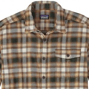 Patagonia Fjord Long Sleeve Lightweight Flannel - Revival/Bear Brown