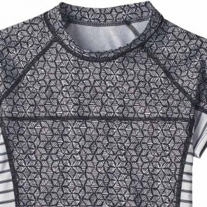 Patagonia Wetsuits Women's Micro Swell Short Sleeve Rash Guard - Batik Hex/Ink Black