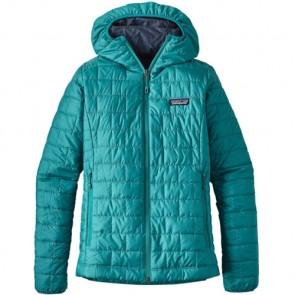 Patagonia Women's Nano Puff Hoody Jacket - Elwha Blue