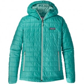 Patagonia Women's Nano Puff Hoody Jacket - Strait Blue