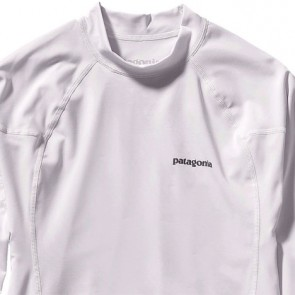 Patagonia Wetsuits R0 Long Sleeve Rash Guard - White/Feather Grey