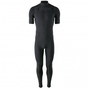 Patagonia R1 Lite Yulex 2mm Short Sleeve Chest Zip Wetsuit - Black
