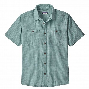 Patagonia Back Step Short Sleeve Shirt - Owens/Dam Blue