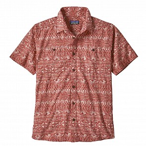 Patagonia Back Step Short Sleeve Shirt - Tradewinds/New Adobe