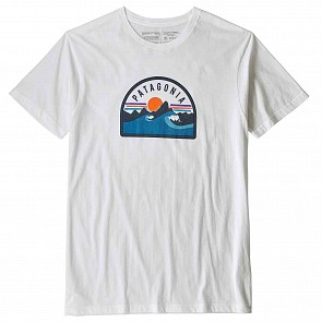 Patagonia Boardie Badge T-Shirt - White
