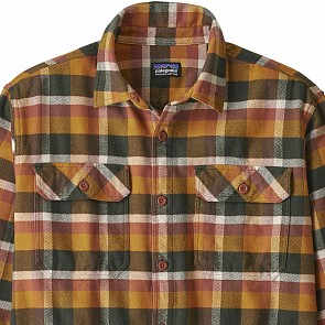 Patagonia Fjord Long Sleeve Flannel Shirt - Observer/Wren Gold