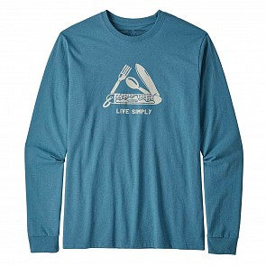 Patagonia Live Simply Pocketknife Long Sleeve T-Shirt - Mako Blue