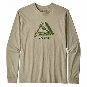 Patagonia Live Simply Pocketknife Long Sleeve T-Shirt - Weathered Stone
