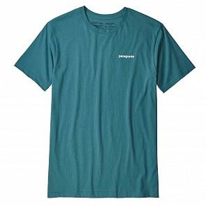 Patagonia P-6 Logo Organic T-Shirt - Tasmanian Teal