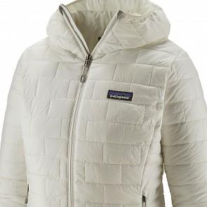 Patagonia Women's Nano Puff Hoody Jacket - Birch White