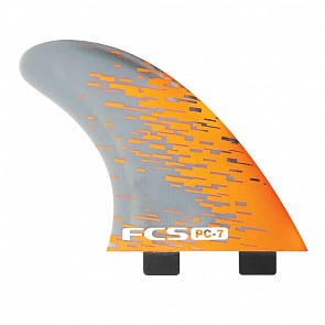 CS Fins PC7 Tri-Quad Fin Set - Orange Smoke