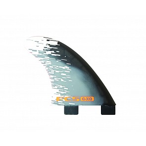 FCS Fins PC7 Large Quad Fin Set - Orange Smoke
