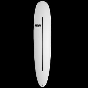 Skindog Peacemaker Thunderbolt Surfboard - White - Deck