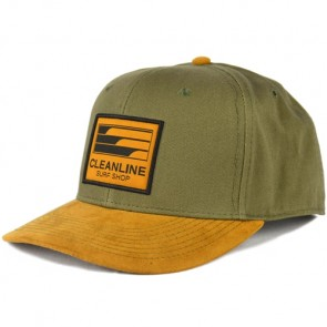 Cleanline Lines Hat - Olive/Tan
