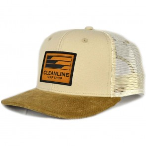 Cleanline Lines Trucker Hat - Stone/Tan
