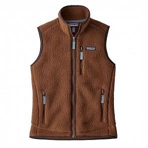 Patagonia Women's Retro Pile Fleece Vest - Moccasin Brown