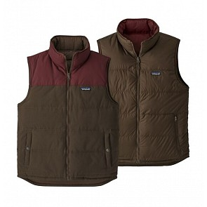 Patagonia Reversible Bivy Down Vest -  Logwood Brown