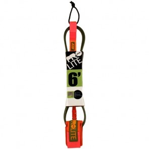 Pro-Lite Comp Leash - Army Green/Neon Orange