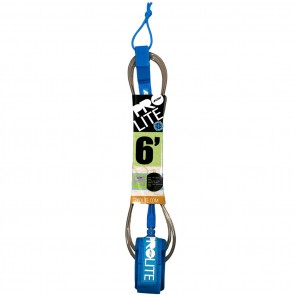 Pro-Lite Comp Leash - Smoke Clear/White/Cyan