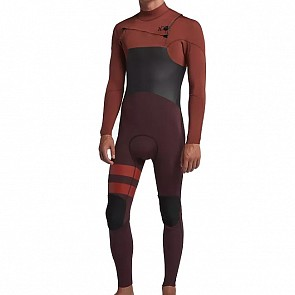 Hurley Advantage Plus 3/2 Chest Zip Wetsuit - Pueblo Brown