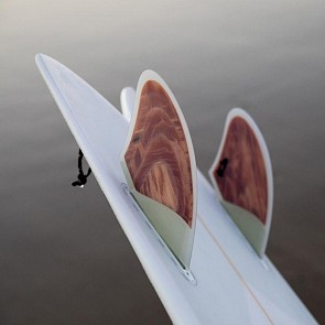 Push Fins A Keel Fin Set - Clear White