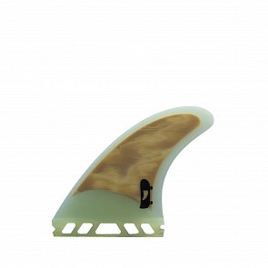 Push Fins DD Tri Fin Set Medium - Clear White