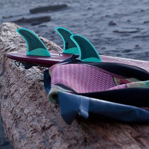 Push Fins DD Tri Fin Set Large - Teal