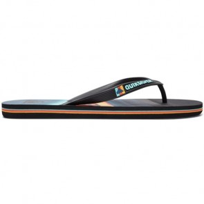 Quiksilver Youth Molokai Slash Sandals - Black/Orange/Blue