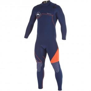 Quiksilver AG47 4/3 Zipperless Wetsuit - Ink Blue/Orange