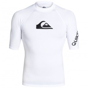 Quiksilver Wetsuits All Time Short Sleeve Rash Guard - White
